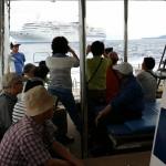 豪華客船「ぱしふぃっくびいなす」号から国頭村上陸クルーザーチャーターがありました!