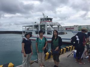 安座真港から久高島へ出発!