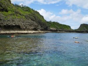 沖縄青の洞窟シュノーケルツアー風景