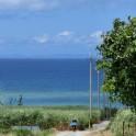 読谷風景 海への坂道